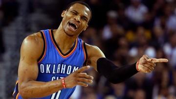 2016-11-21 NBA: Triple-double Westbrooka nie uchroniło Thunder od porażki