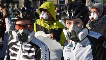 """14-11-2015 16:26 Protest antysmogowy. """"Polskie powietrze najgorsze w UE"""""""