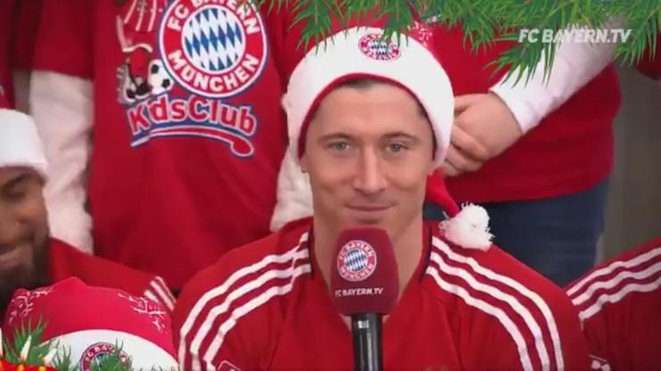 Piłkarze Bayernu zaśpiewali Jingle Bells. Polskie życzenia Lewego (WIDEO)