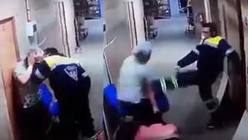 Ratownik medyczny kopnął w brzuch ciężarną pielęgniarkę. Atak nagrały kamery monitoringu