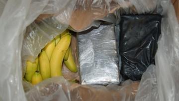 20-12-2016 09:41 Kokaina warta prawie milion złotych w bananach z Kolumbii