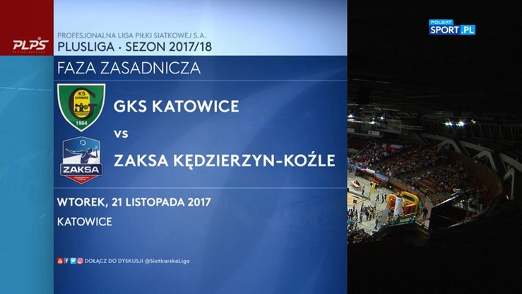 GKS Katowice - ZAKSA 0:3. Skrót meczu