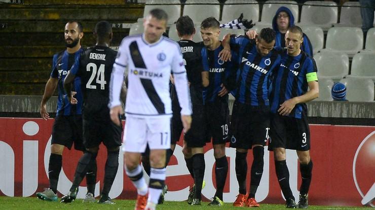 Legia w Lidze Europy już raczej tylko o honor. Poległa w Brugii 0:1