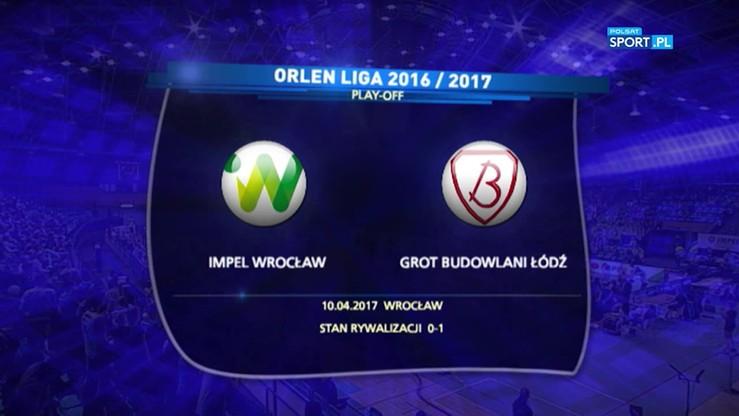 Impel Wrocław - Grot Budowlani Łódź 2:3. Skrót meczu