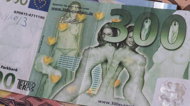 Nagie kobiety na porno banknotach euro. Niemiecka policja ostrzega przed oszustami