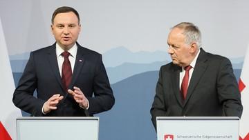 14-11-2016 16:46 Prezydenci Polski i Szwajcarii dyskutowali o frankowiczach