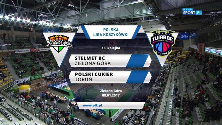 Stelmet BC Zielona Góra - Polski Cukier Toruń 83:67. Skrót meczu