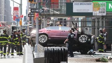 18-05-2017 20:04 Rozpędzony samochód wjechał w ludzi na nowojorskim Times Square. Kierowca to były wojskowy