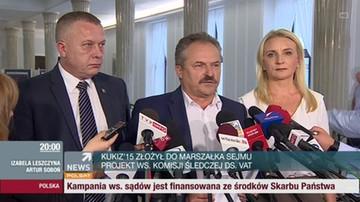 Kukiz'15 złożył wniosek o komisję śledczą ds. VAT