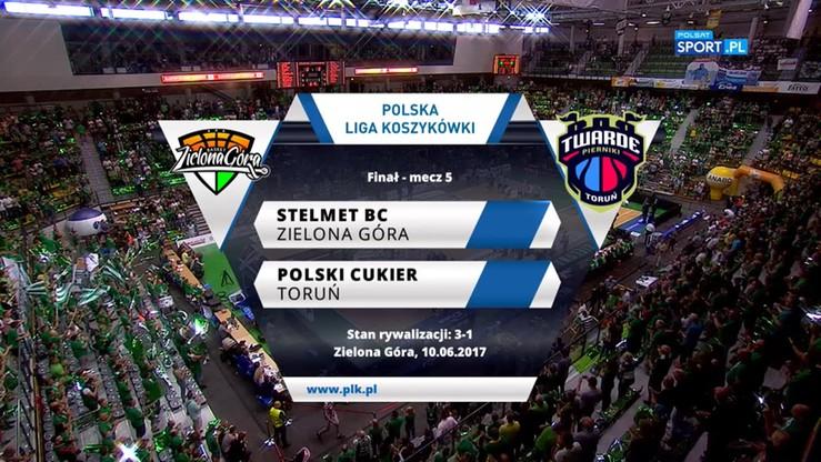 Stelmet Zielona Góra - Polski Cukier Toruń 88:82. Skrót meczu