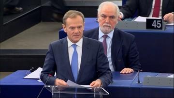 15-03-2017 12:10 Tusk w europarlamencie: celem musi być jedność i zaufanie