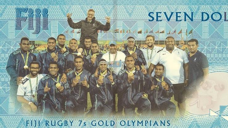 Nowy banknot na cześć złotych rugbistów Fidżi