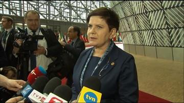 """""""Nic bez nas, bez naszej zgody"""". Premier Szydło przed szczytem UE"""