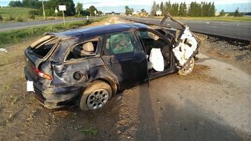 09-07-2016 15:34 Dachowała autem. Wiozła 3-miesięczne dziecko. Miała 2 promile
