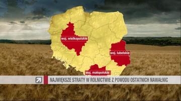 11-08-2016 18:37 152 mln zł strat w rolnictwie z powodu klęsk pogodowych