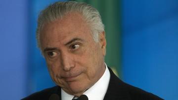 27-06-2017 07:50 Prezydent Brazylii oskarżony o przyjmowanie łapówek. Procesu nie będzie