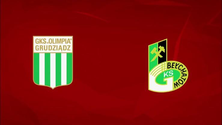 2015-11-02 Olimpia Grudziądz - GKS Bełchatów 1:3. Skrót meczu