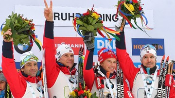 2017-01-11 PŚ w biathlonie: Triumf Norwegów. Polacy najlepiej od lat