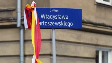 04-12-2016 18:46 Skwer im. Władysława Bartoszewskiego. Na warszawskiej Woli