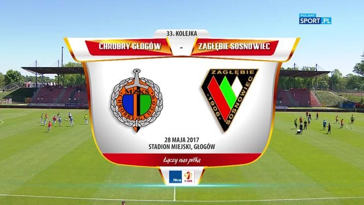 2017-05-28 Chrobry Głogów - Zagłębie Sosnowiec 1:0. Skrót meczu