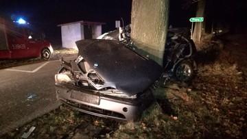 11-11-2016 11:07 Samochód owinął się wokół drzewa. Wszyscy zginęli