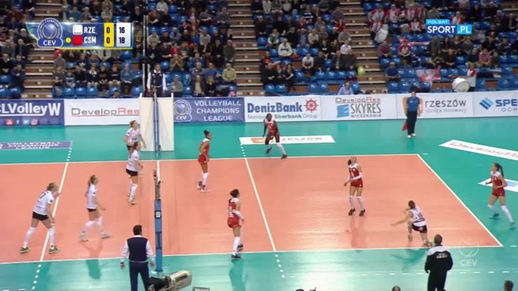 Developres SkyRes Rzeszów - CSM Volei Alba Blaj 0:3. Skrót meczu