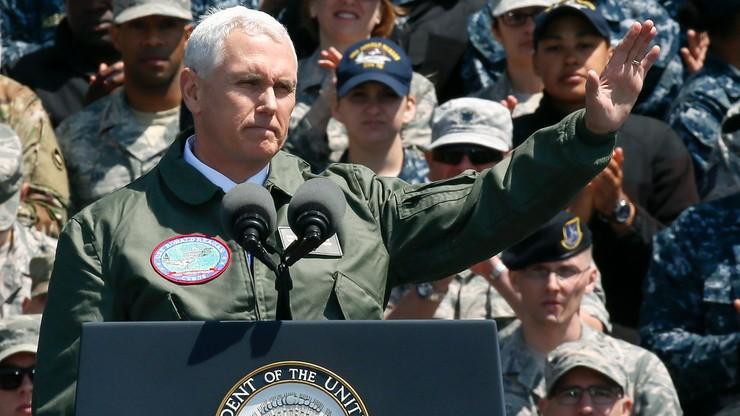 """""""Miecz czeka w gotowości"""". Wiceprezydent USA do Korei Północnej"""