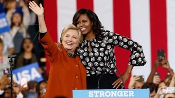 28-10-2016 05:52 Michelle Obama i Hillary Clinton po raz pierwszy razem w kampanii