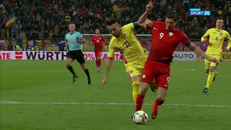 2016-11-11 Rumunia - Polska 0:3. Gol Lewandowskiego z karnego