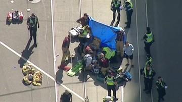 Samochód wjechał w tłum ludzi w centrum Melbourne. Jest wielu rannych