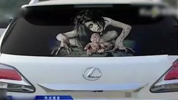 2016-11-20 Naklejki jak z horroru. Pomysł na walkę z kierowcami oślepiającymi światłami