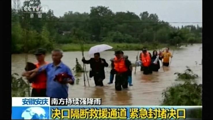 Śmiertelne żniwo wielkiej powodzi w Chinach. 186 ofiar na południu i w środkowej części kraju