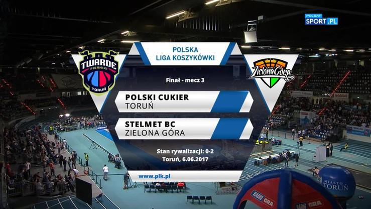 Polski Cukier Toruń - Stelmet BC Zielona Góra 84:74. Skrót meczu