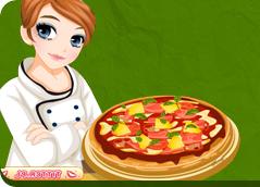 W grach z serii pizza mamy możliwość prowadzenia własnej pizzeri. Naszym zadaniem w grach jest między innymi obsługa gości, produkcja pizzy. Przykładowe tytuły: Pizza King, Pizza Passion, Papa's Pizzeria.